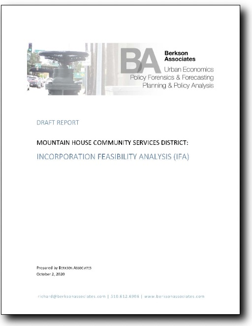Cover of Mountain House Feasibility Study